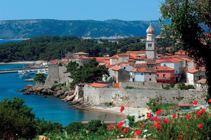 Krk island of Croatia