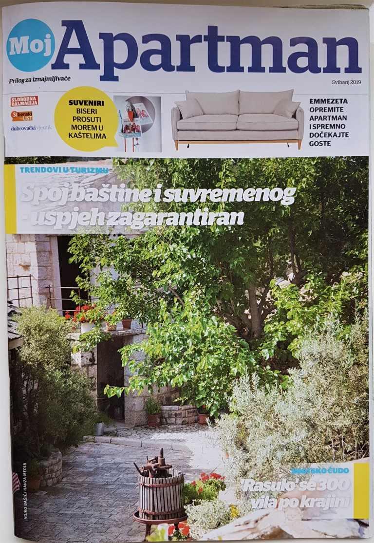 Local magazine APARTMANI specialized in tourism in Dalmatia, edition May 2019.