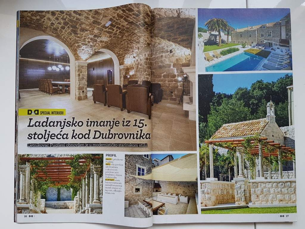 Article about LuxuryCroatia.net villas in Dom and Design July 2015.
