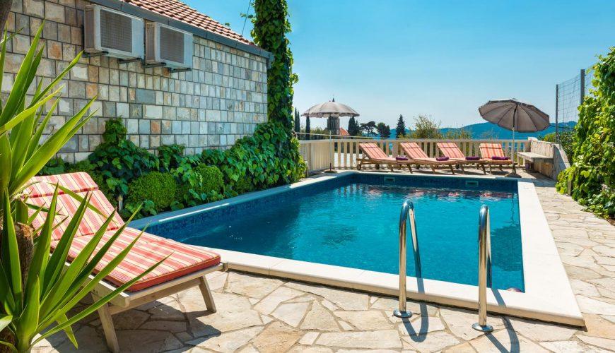 Croatia Dubrovnik Trsteno Stone Pool villa rent