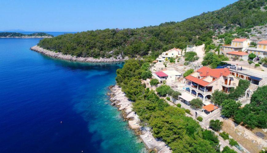 Croatia island Korcula Prizba Seafront Pool Villa for rent